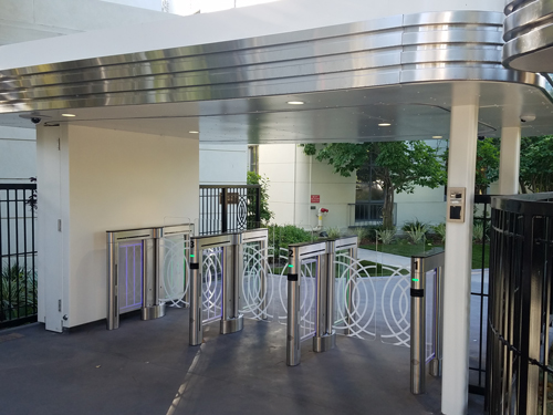Optical Turnstiles Control Access Lend Sleek Look to Entrances